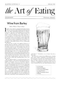 No. 14 Wine from Barley