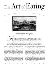 No. 40 In the Region of Cognac