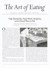 No. 25 High Standards, Hard Work, Simplicity, and a Good Place to Eat