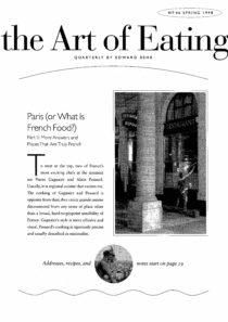 No. 46 Paris (or What is French Food?), Part II