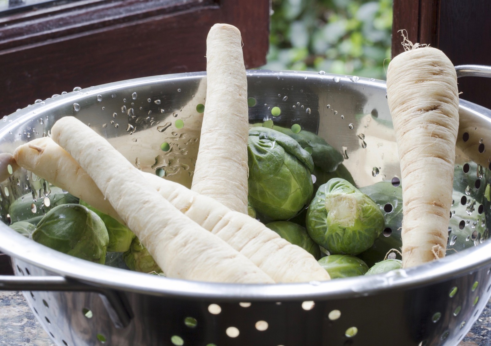 Parsnips and Brussels Sprouts