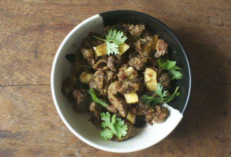 Kerala Beef Fry (Erachi Ularthiyathu)
