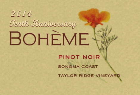 Why This Bottle, Really: Taylor Ridge Pinot Noir, Bohème Wines, Sonoma Coast